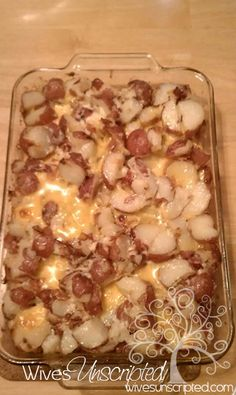 Heart Attack Potato Salad! Potatoes, Velvetta, Bacon, Butter, Onion, and Mayo! Delicious side dish for the holidays (Thanksgiving, Christmas, Easter! )