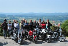 Motorcycle touring in Italy. A Ladies First tour of Tuscany and Umbria regions where men are invited only when accompanied by a woman rider. Read more here. Touring Bike, Motorcycle Touring, Dirt Track Racing, Auto Racing, Cafe Racer Build, Motosport, Italy Tours, Racing Motorcycles, Monster Energy