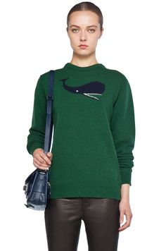 Whale Sweater in Green by Jil Sander