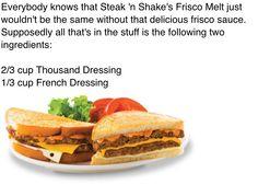 Steak n Shake Frisco Melt Sauce Recipe