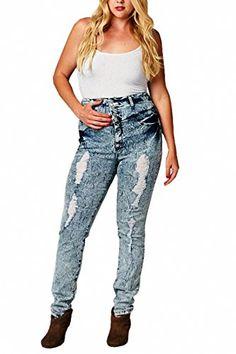 Explorer Distressed Skinny Plus Size Harley Jean | Fashion Bug ...