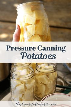 Pressure Canning Potatoes is a great way to preserve garden fresh potatoes and is super easy! Make up quick potato soup, fry up for hashbrowns, dump into stews, or heat make mashed potatoes! Canning Pressure Cooker, Pressure Canning Recipes, Pressure Cooker Recipes, Canning Tips, Pressure Cooking, Quick Potato Soup, Fresh Potato, Canning Potatoes, Canning Vegetables