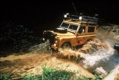 Land Rover Series III competing in the 1983 Camel Trophy event held in Zaire.