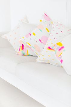 DIY Pattern Throw Pillows | Sugar & Cloth