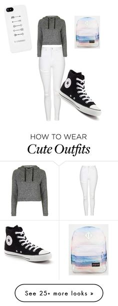 """""""November's school outfit"""" by batmangirlforever12 on Polyvore featuring Topshop, Converse and JanSport"""
