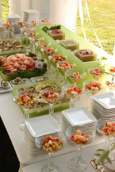 Best Ideas For Seafood Buffet Ideas Food Stations Catering Display, Catering Food, Seafood Buffet, Buffet Set, Styling A Buffet, Think Food, Food Stations, Food Displays, Appetizers For Party