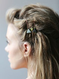 Bobby pins as hair accessories