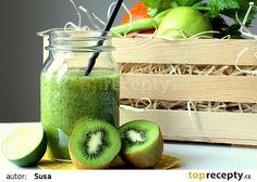 Smoothie s řapíkatým celerem recept - TopRecepty. Smoothie Detox, Smoothies, Pickles, Cucumber, Watermelon, Fresh, Vegetables, Author, Smoothie