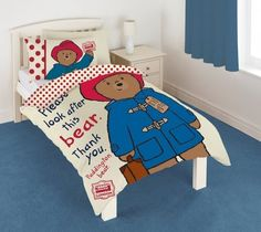 Character Paddington Bear 'Look After' Panel Single Duvet Cover . http://www.amazon.com/dp/B00QAG5R2Y/ref=cm_sw_r_pi_dp_W2uWub1B23WSN