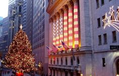 Wall Street during the holiday season in new york city #nyc #christmas #manhattan