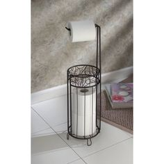 InterDesign Toilet Paper Holder with Free Charmin Utra-Soft 4 Pack! Toilet Paper Holder Stand, Free Standing Toilet Paper Holder, Unique Toilet Paper Holder, Toilet Paper Storage, Grand Menage, Wrought Iron Decor, Primitive Bathrooms, Country Bathrooms, Ornaments