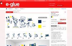 """""""E-Glue est un site au design attachant. Le design très pro met immédiatement l'acheteur en confiance..."""" via #webdesigntrends"""