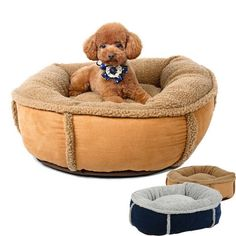 HOOPET Completely Removable & Washable Warm Soft Pet Cat Dog Bed with Double Sided Cushion Pet House Pet Sleeping Bag