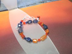 Auburn University Gemstone  Bracelet - War Eagle
