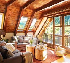 13 Creative Coffee Table Alternatives for Your Living Room Design Loft, Design Case, House Design, A Frame Cabin, A Frame House, Cabin Homes, Log Homes, Home Deco, Coffee Table Alternatives