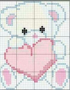 63 Best Ideas For Embroidery Stitches Baby Crosses Cross Stitch Baby, Cross Stitch Animals, Cross Stitch Charts, Cross Stitch Designs, Cross Stitch Patterns, Pixel Crochet Blanket, Crochet Blanket Patterns, Baby Blanket Crochet, Cross Stitching