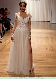 93838ca1d4ca Beloved by Casablanca Bridal Style BL251 Misty Wedding Gowns With Sleeves, Long  Sleeve Wedding,