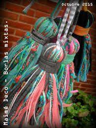 Resultado de imagen para adornos en lana o totora