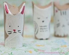 What a cute woodland creatures toilet paper roll craft! This is a great craft for kids but adults will have just as much fun making their own too. Crafts From Recycled Materials, Recycled Crafts Kids, Fun Crafts For Kids, Craft Activities For Kids, Crafts To Do, Diy Craft Projects, Diy For Kids, Craft Ideas, Toilet Roll Craft
