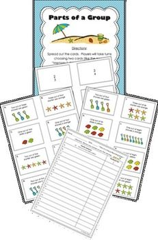 """This 55-page pack is full of """"fraction action"""" for your students!  They will have opportunities to practice and master fraction-related skills.  There are nine different centers as well as an answer key for you! The pack covers the following skills:- identifying parts of a group- comparing fractions (with like numerators)- comparing fractions (with like denominators)- ordering fractions (from least to greatest)- adding fractions (with like denominators)- subtracting fractions (with like…"""