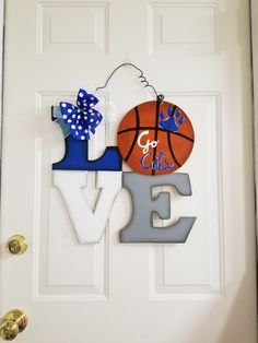 U of K basketball door hanger. & Basketball Goal Door Hanger by queensofcastles on Etsy | Door ... Pezcame.Com