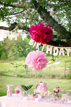 Real Party: Garden Themed Birthday Party by Call Me Cupcake | Somewhere Splendid