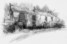 Artist Sean Briggs producing a sketch a day Grasmere shop  #art #drawing #grasmere #http://etsy.me/1rARc0J #sketch
