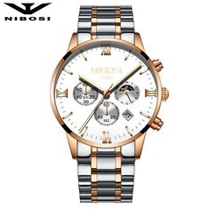 NIBOSI Sun Moon Phase Watch Men Quartz Watches Luxury Famous Top Brand Men's Fashion Casual Military Army waterproof Wristwatch. Yesterday's price: US $33.90 (27.97 EUR). Today's price: US $33.90 (27.97 EUR). Discount: 70%.