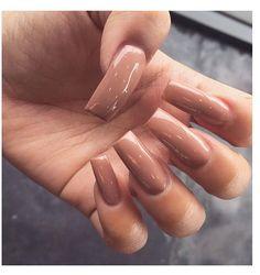 Brown acrylic nails