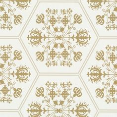 Graham & Brown Marcel Wanders Stella Designer Feature Wallpaper White / Gold #GrahamBrown #Wallpaper