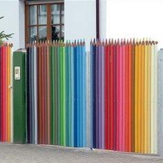 kindergarten or art school - Color Pencil fence.
