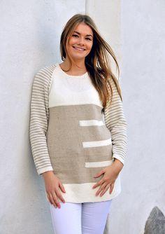 Familie Journal - strikkeopskrifter til hende Knit Crochet, Stripes, Pullover, Tees, Womens Fashion, Sweaters, Knitting Ideas, Passion, Journal