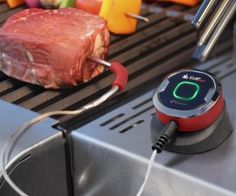 Finally! A bluetooth meat thermometer that works perfectly with your phone and bluetooth. A great gadget for the next time you grill. See it at The High-Tech Home. http://thehightechhome.com/ #grill #tech #igrillmini