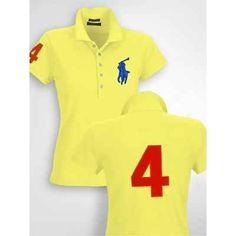 Polo Ralph Lauren Womens Big Pony Yellow