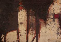 "Marcello Mariani Senza Titolo.1958. Oil and mixed media on canvas, Cm. 84 x 120.   From ""La via pittorica al sacro / Painting towards the Sacred (1957-2007)"" exhibition, 2008. Palazzo Venezia National Museum, Rome."