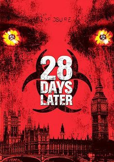 28 Days Later [PN1997.2 T84 2003]  Four weeks after a mysterious, incurable virus spreads throughout the UK, a handful of survivors try to find sanctuary. Director: Danny Boyle Writer: Alex Garland Stars: Alex Palmer, Cillian Murphy, Naomie Harris