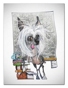 Chinese Crested Art Print - Einstein – JohnLaFree.com
