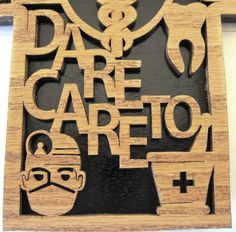 Healthcare scroll saw cut wall plaque23cr