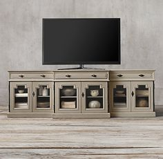 Montpellier Glass Media Console - last but not least - idea for tv stand