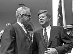"""Little Known Facts About JFK:  Barry Goldwater is a 1st-rate photographer, and he once took a picture of President Kennedy and sent it to him for an autograph. The picture came back with this inscription: """"For Barry Goldwater, whom I urge to follow the career for which he has shown so much talent - photography. From his friend, John Kennedy""""."""