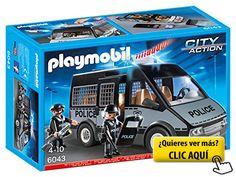 Playmobil - Furgón de policía con luces y sonido... #playmovil