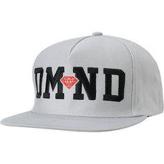 Diamond Supply Co DMND Grey   Red Snapback Hat  41ad2fc1c0
