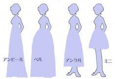 ドレスの形2