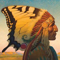Native American Nouveau Canvas Art by Thomas Blackshear II   iCanvas