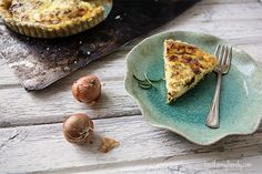 caramelized shallot & Gruyère quiche with rosemary crust #brekkie #morning #meal