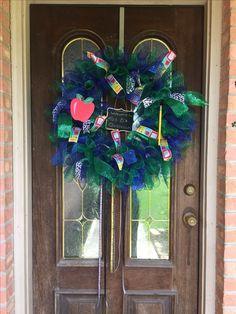 Teachers wreath