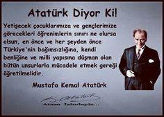 Atatürk diyor ki Open Your Eyes, Great Leaders, World Leaders, Antalya, Feelings, Memes, People, Instagram, Facts