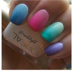 Spring Nail Trends.., gotta love the spring colors