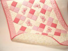 baby quilt custom baby quilt modern patchwork by Customquiltsbyeva, $125.00
