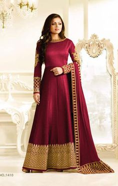 Madhubala as Drashti Dhami Designer Maroon Mulborne Silk Salwar Kameez, New Stylist Collection of latest  LT Fabrics Nitya Vol.10 Madhubala as Drashti Dhami designer Suit 2017 available here online best rate.